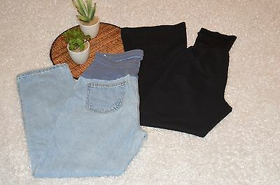 Motherhood Maternity Petite Pants Jeans Lot of 2 Size Small and 4