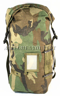 Military LRG NBC Stuff Compression Sack Carry Wet Weather Bag Duffle Woodland GC