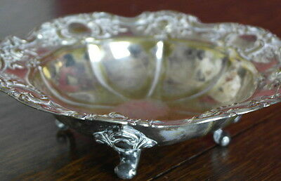 antique silver plate  dish BOWL