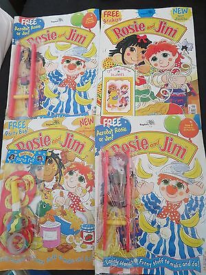 Bundle of Rosie and Jim comics / Magazines. With original gifts