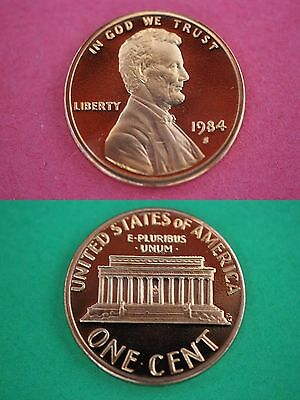 1984 S Proof Lincoln Memorial Cent Penny Deep Cameo Combined Shipping