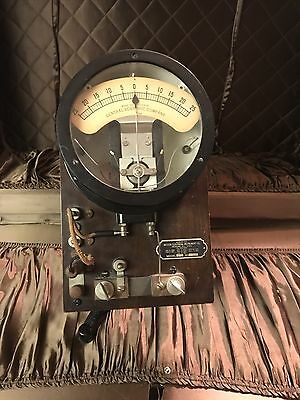 Vintage Weston Electrical Instruments Galvanometer Early 1900's Steampunk