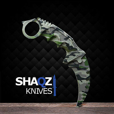 Counter CS GO Strike BOREAL FOREST Skin Karambit Knife Messer Couteau