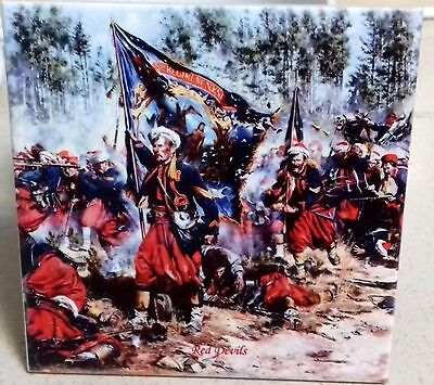 American Civil War - Union army Zouaves RED DEVILS  CERAMIC TILE