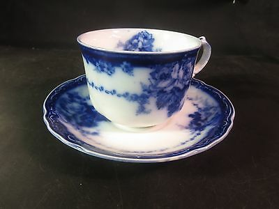 """Alfred Meakin """"Ovando"""" Flow Blue Large Cup & Saucer"""