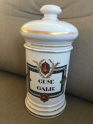 FINE Antique Old Paris BEE Mexico Pharmacy Apothecary Jar Bottle Gum: Galb: Rare