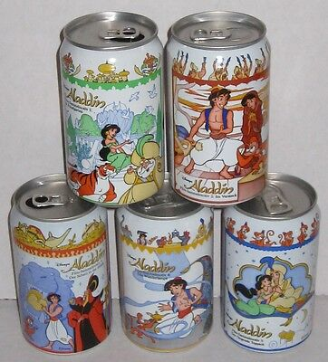 Aladdin Disney Fanta Orange Steel Soda Pop Can Complete Set Germany 1994 Rare