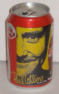 Phil Collins Coca Cola Coke Soda Pop Soft Drink Can Germany 1996 Europe Rare