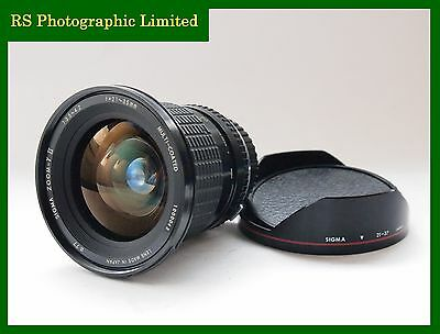 Sigma 21-35mm F3.5-4.2 OM Mount Zoom Lens. Stock No. U7436