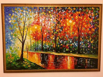 A Very Large Canvas Oil Painting   - Professionally Framed