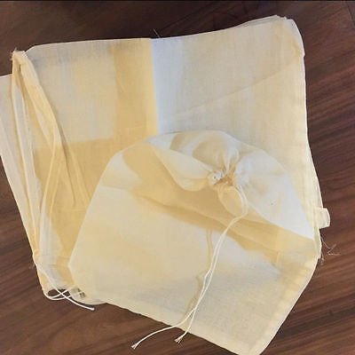 10/50/100 Pack LARGE 8x10inch Cotton Muslin Drawstring Bags Tea Herb Spice Soap
