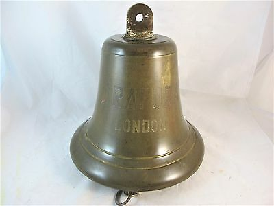LARGE ANTIQUE 19th CENTURY SHIPS BELL FROM THE  ARAFURA, LONDON, C1880'S.