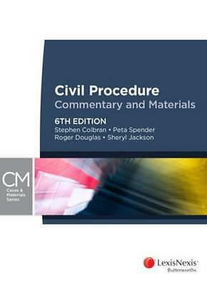 NEW Civil Procedure By S Colbran Paperback Free Shipping