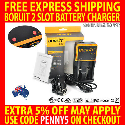 Genuine Boruit C2E Fast Battery Charger Smart Lifepo4 26650 22650 18650 Aaa