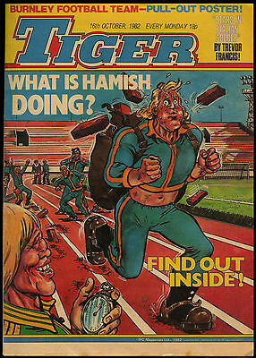 Tiger Comic 16th Oct 1982 Complete With Burnley Football Team Poster #17708