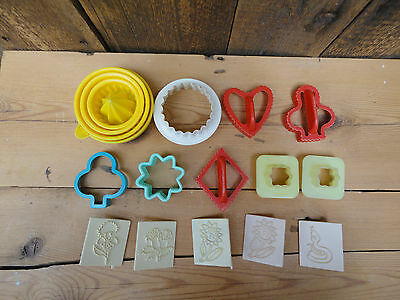 Vintage Cookie Biscuit Shape Cutters Lemon Squeezer Icing Stamps Kitchenalia Z3