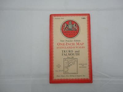 Vintage National Grid Ordnance Survey Truro & Falmouth Map Sheet 190 Collectors
