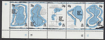 BRITISH INDIAN OCEAN TERRITORY :1994 Maps   set  SG147-51 MNH