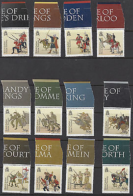 BRITISH INDIAN OCEAN TERRITORY :2010 Great Battles  set  SG439-50 MNH