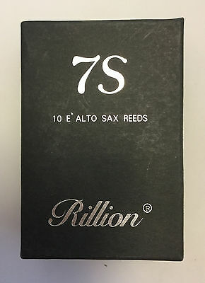 Symphony 7S by Rillion Alto Saxophone Reeds, Box of 10 Strengths 2.5, 3 or 3.5.