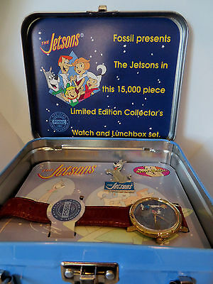 Jetsons 1993 Limited Edition Fossil Collectors  Watch Set Mini Lunch Box New