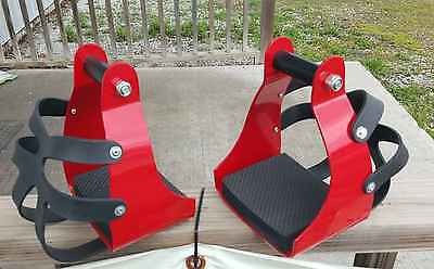 Brand new western endurance stirrups with toe guard hood