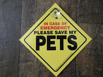 In Case of Emergency Please Save My Pets Sign