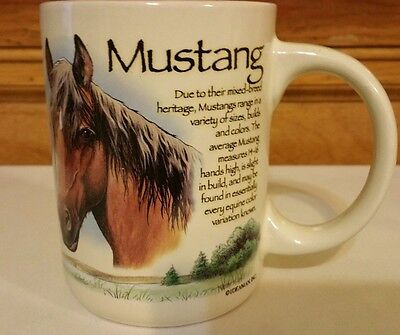 Mustang Horse ceramic mug heavy American Expedition