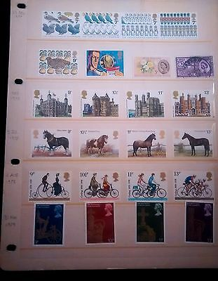24 Mint UK Commemorative Stamp Sets from 1977, 1978 1979 on a single Stock Page
