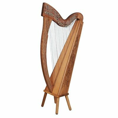 27 Saiten Trinity Walnuss Harfe, 27 Strings Celtic Irish Harp,  Irish lever Harp