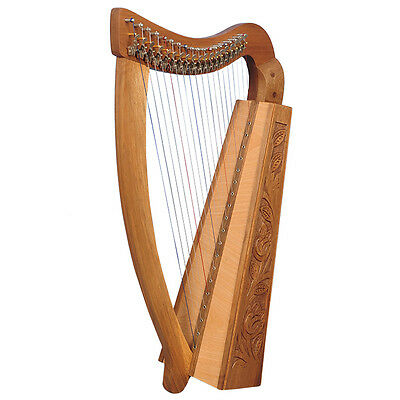 19 Saiten Trinity Walnuss Harfe, 19 Strings Celtic Irish Harp,  Irish lever Harp
