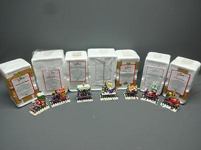 The Simpsons Lot Of 7 Hamilton Christmas Express Collection Train Set With COA