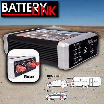 Battery Link 20A Amp Dual Isolator System Kit Dc To Dc Charger Mppt Solar Agm