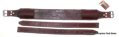"D.A. Brand Latigo Leather 3"" Wide Western Back Cinch w/ Billets Horse Tack"