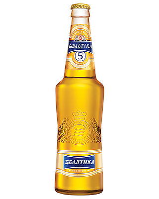 Baltika 5 Golden Ale 500mL case of 20 International Beer