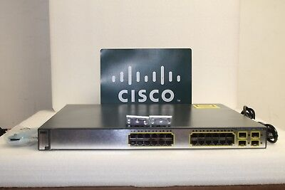 Cisco WS-C3750G-24PS-S 24 Port PoE 10/100/1000 Gigabit Switch FAST SHIPMENT