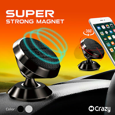 Universal 360 Ball Magnetic Car Holder Mount Cradle For iPhone Galaxy GPS