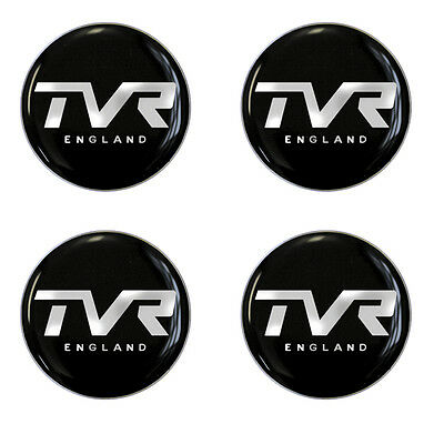 TVR England Blk B/G Self Adhesive Set of 4 Gel Wheel Centres Choice of Sizes
