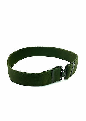 British Army - 95 WORK BELT - Olive Green Canvas - One Size - Military - Grade 1