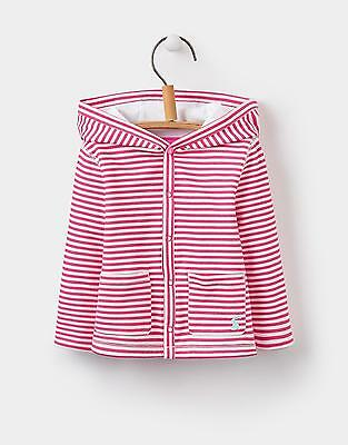 Joules 124313 Baby Girls Hooded Jacket from 100% Cotton Jersey in Pink Stripe