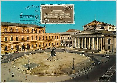 63552 - GERMANY - POSTAL HISTORY: MAXIMUM CARD 1972 - OLYMPIC GAMES Architecture