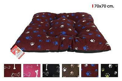 Large Warm Soft Fleece Puppy Pets Dog Cat Bed Cushion Pillow Mattress 70x70cm