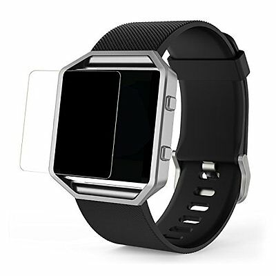 2-Piece Fitbit Blaze Tempered Glass Screen Protector Clear Smart Watch Accessory