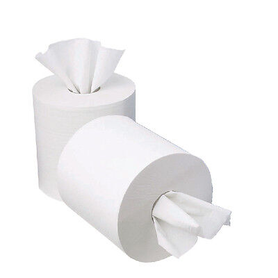 2Work 1 Ply MiniCentrefeed 120 Metre Paper Roll (Pack of 12) KF03784