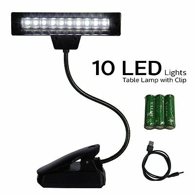 ETOPLIGHTING 10 LED Super Bright Lamp Orchestra Music Stand Light Clip On B...