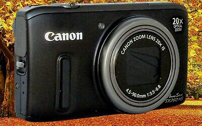 CANON SX260 HS Black Reconditioned Digital Camera-On a scale of 10 it's a 9.0