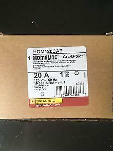 SQUARE D HOMELINE HOM120CAFI Hom120cafi ARC-FAULT COMBO 20A  NEW IN BOX