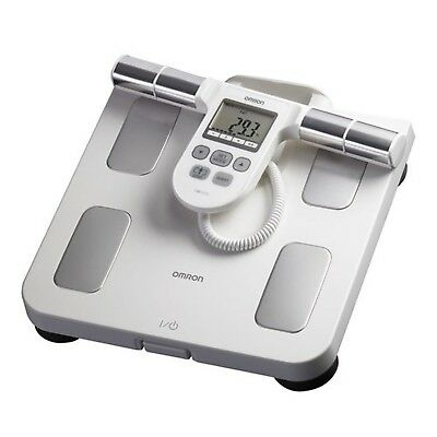 Omron Body Composition Monitor with Scale & 5 Fitness Indicators Red OS