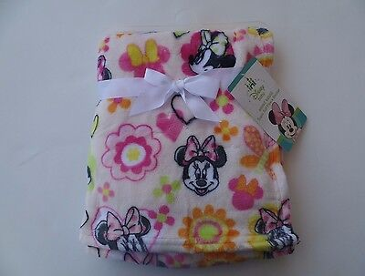 NWT MINNIE MOUSE Blankets Baby Girl Flannel Fleece Plush Blanket