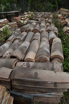 Large Lot of Mission/Canal Roof Tile 2,000+ Reclaimed Castelnaudary French Roman
